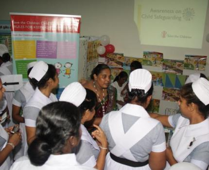 Save the Children with National Hospital for Children in Sri Lanka promoting Child Safeguarding & Child Protection on Children's Day