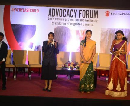 Every Last Child Campaign; Save the Children in Sri Lanka conducts an Advocacy Forum focusing issues faced by children of migrated parents