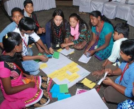 Sri Lankan Children in Regional Children's Meeting in Asia